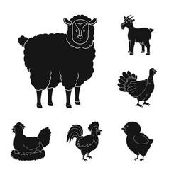 ranch and organic logo vector image