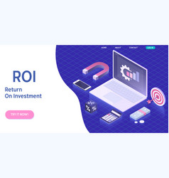 Roi return on investment in vector