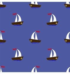 Sea Ships Silhouettes vector image