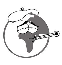 Sick earth cartoon vector