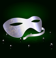 silver carnival half mask vector image
