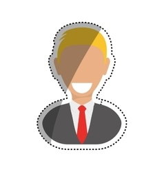 Successful businessman pictogram vector