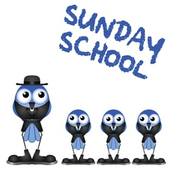 SUNDAY SCHOOL vector image
