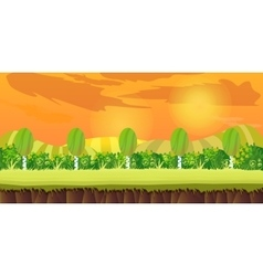 Sunset hills Game Background vector
