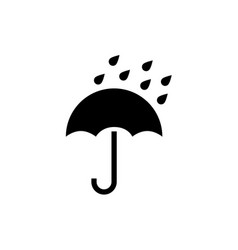 umbrella icon rain protection umbrella vector image