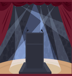 View from stage of theater or concert hall vector