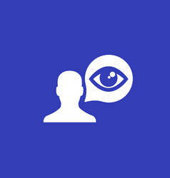 Viewer icon with man and eye vector