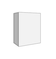 White blank box template vector