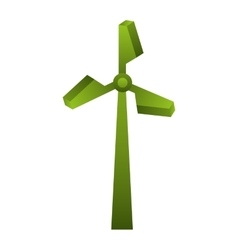 windmill green silhouette icon vector image