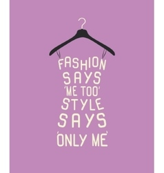 Woman dress from quote vector image