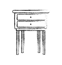 Wooden table furniture home decoration vector