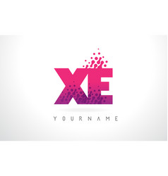 Xe x e letter logo with pink purple color and vector