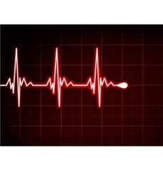 Abstract heart beats cardiogram EPS 8 vector image
