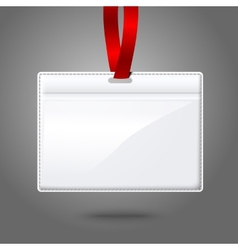 Blank realistic horizontal badge holder with vector