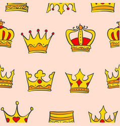 gold crown very glamour of pattern vector image
