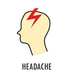 headache logo or icon template vector image vector image
