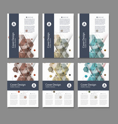 abstract cover design business brochure template vector image