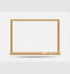 blackboard template transparent vector image vector image