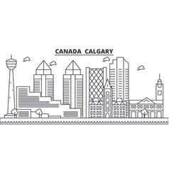 canada calgary architecture line skyline vector image