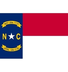 Flag of North Carolina correct size color vector image vector image