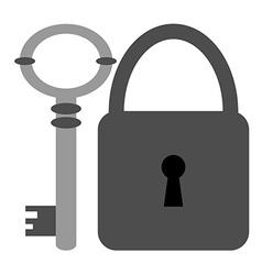 Key and Padlock Icons vector image