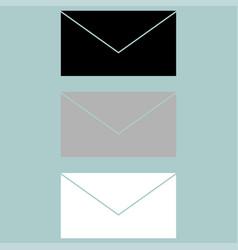 Letter icon black grey white vector