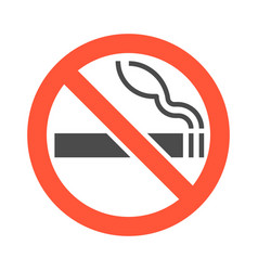 non smoking area sigh and symbol silhouette vector image