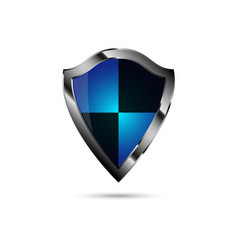 protection shield with metal edging vector image