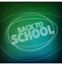 Back to school School icons on a blackboard vector image vector image