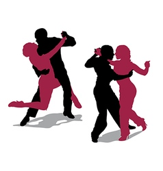 Couple dancing argentine tango vector image vector image