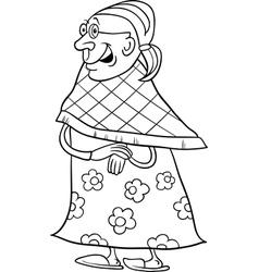 senior grandmother coloring book vector image
