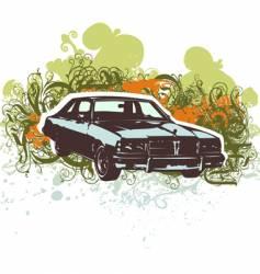 vintage car retro illustration vector image vector image