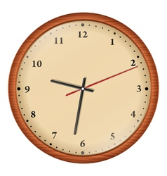 wooden wall clock vector image vector image
