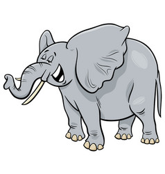 african gray elephant animal cartoon character vector image