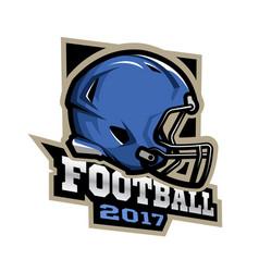 american football games 2017 emblem vector image