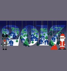 creative happy new year 2017 design vector image