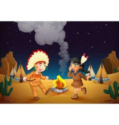 dancing boy and girl vector image vector image