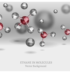 Ethane Molecules Background vector image vector image