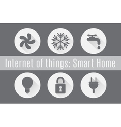 Internet of things iot - smart home set of 6 vector
