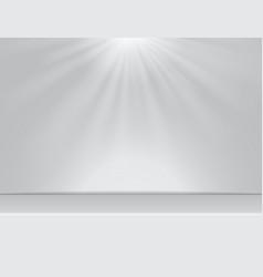 Light white studio room background with lighting vector