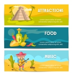 Mexican Banner Set vector image vector image