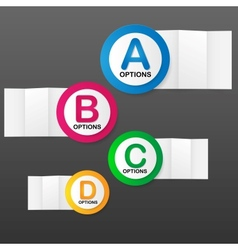 Options Banner template vector image vector image