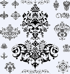 Patterned elements vector image vector image