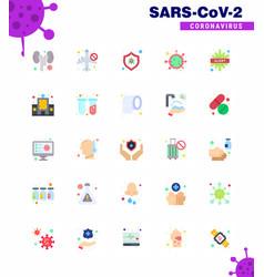 25 flat color viral virus corona icon pack vector