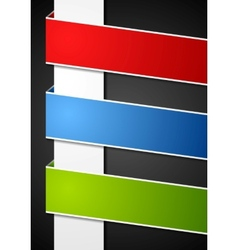 Abstract paper bright banners vector