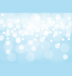 abstract soft blue bokeh light background vector image