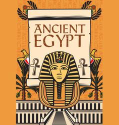 Ancient egyptian travel landmark egypt pharaohs vector