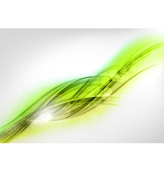 background green wave white horizontal vector image