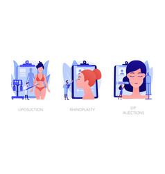 beauty procedures abstract concept vector image