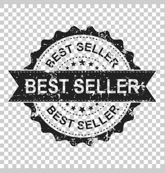 best seller scratch grunge rubber stamp on vector image